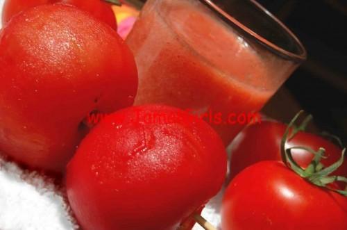 خلطات الطماطم او البندورة للبشرة
