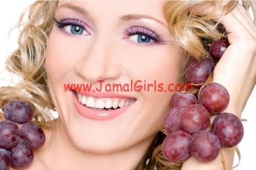 العنب لجمال البشرة