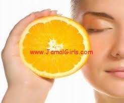 خلطات البرتقال للجمال