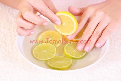 الليمون لتبيض اليدين